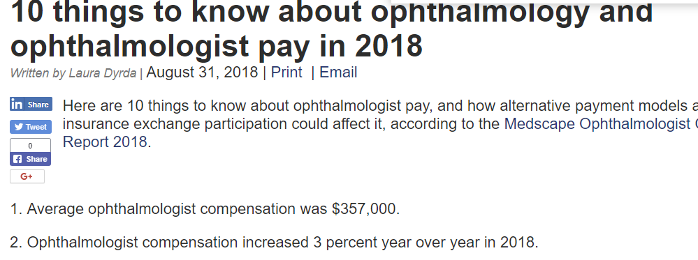 beckers asc ophthalmology salary