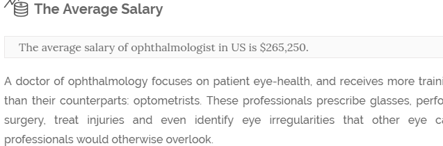 salarysumo how much does an ophthalmologist earn