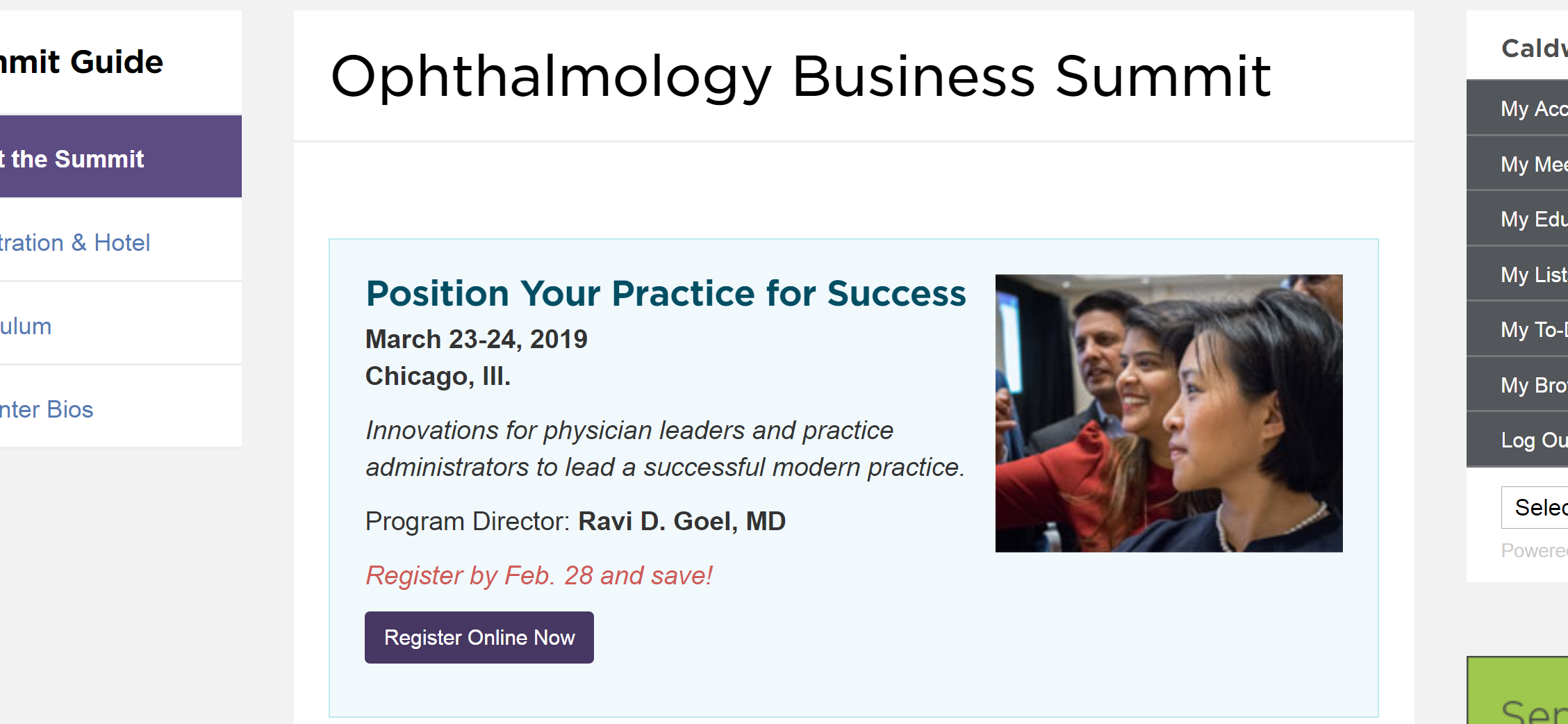 american academy of ophthalmology ophthalmology business summit aao business summitt aao obs chicago